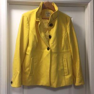 Old Navy Yellow Wool Peacoat